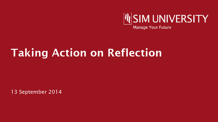 Taking action on reflection