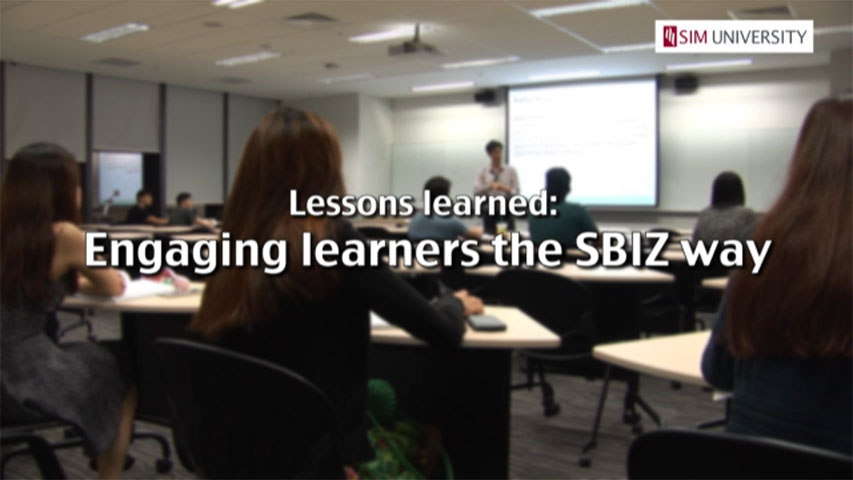 Lessons learned: Engaging learners the SBIZ way
